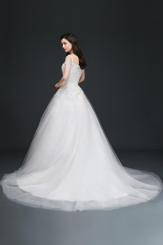 Women's Elegant Backless Laced-Up Bridal Dress