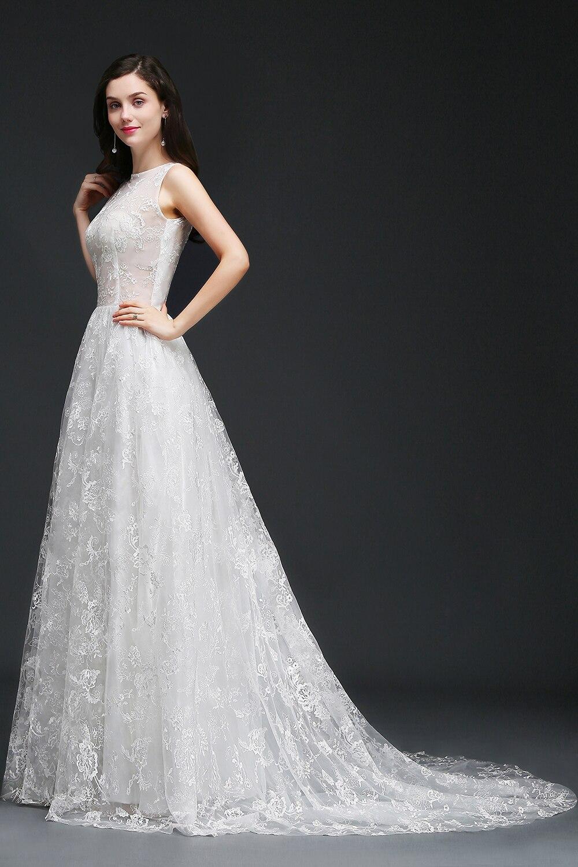 Women's Sleeveless Laced Bridal Dress